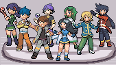 Pokemon Light Platinum Zhery League & Gym Leaders