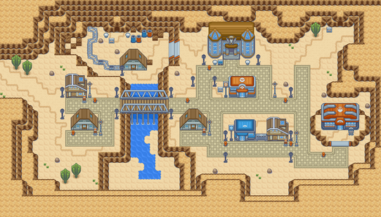 Pokemon Light Platinum Zhery City Map