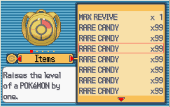 Pokemon Emerald 99 Rare Candy In Pc » Pokemon Emerald