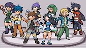 Pokemon Light Platinum Zhery League & Gym Leaders