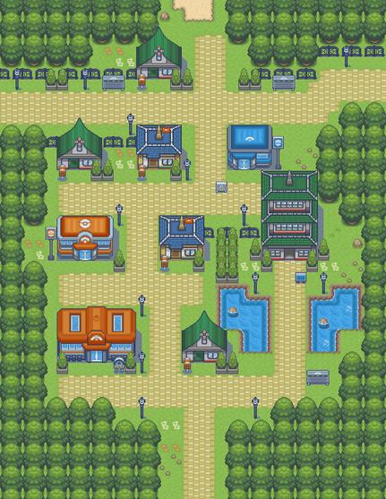 Pokemon Light Platinum Lauren City Map